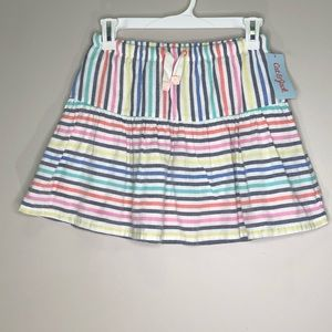 Cat and Jack Striped Skirt with Pockets | NEW NWT